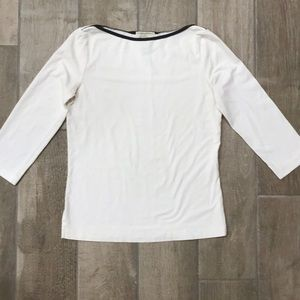 Banana Republic | White 3/4 length sleeve top